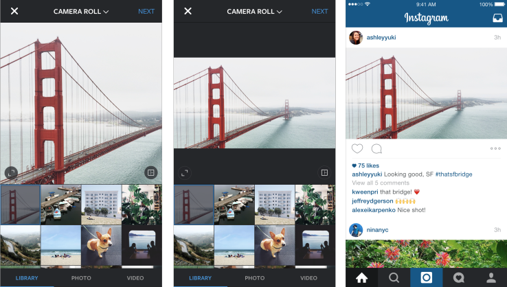 Instagram Thinks Outside The Square, Now Allows Landscape And Portrait Photos And Videos