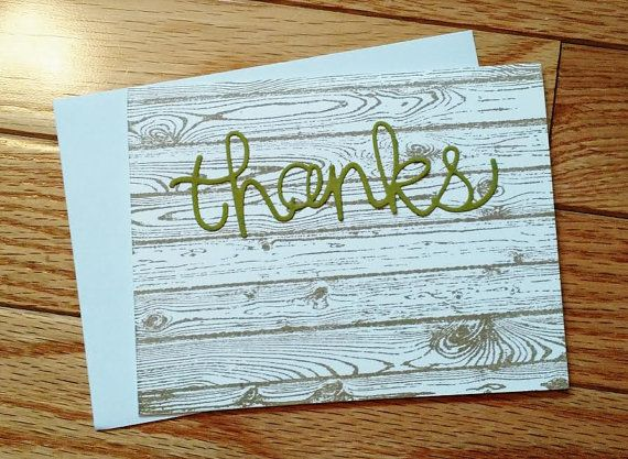 Manly Thank You Thank You Card Thank You Note By Stamptasticcards