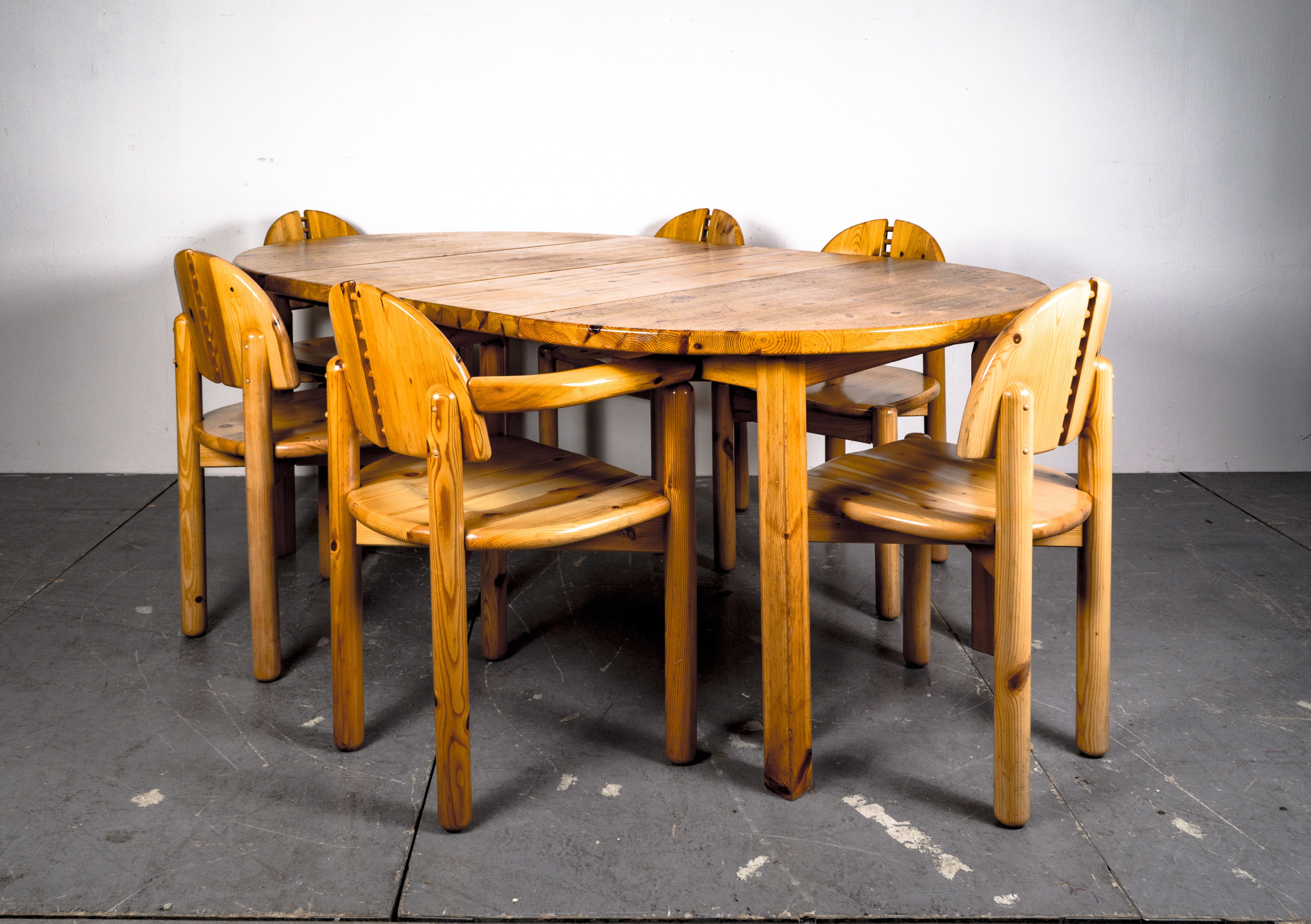 Danish Dining Table Chairs Set In Style Of Rainer Daumiller 1970er Danish Dining Table Dining Table Dining Table Chairs
