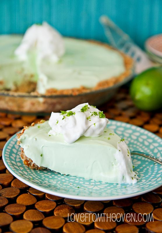 Key Lime Margarita Pie With A Pretzel Crust • Love From The Oven