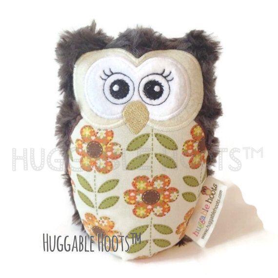 """Huggable Hoot™ Owl - Small (6.5"""") Vintage Sunflowers"""