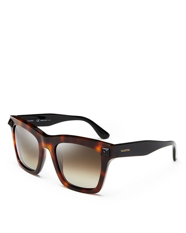46952b3b0a Valentino Rockstud Oversized Square Sunglasses