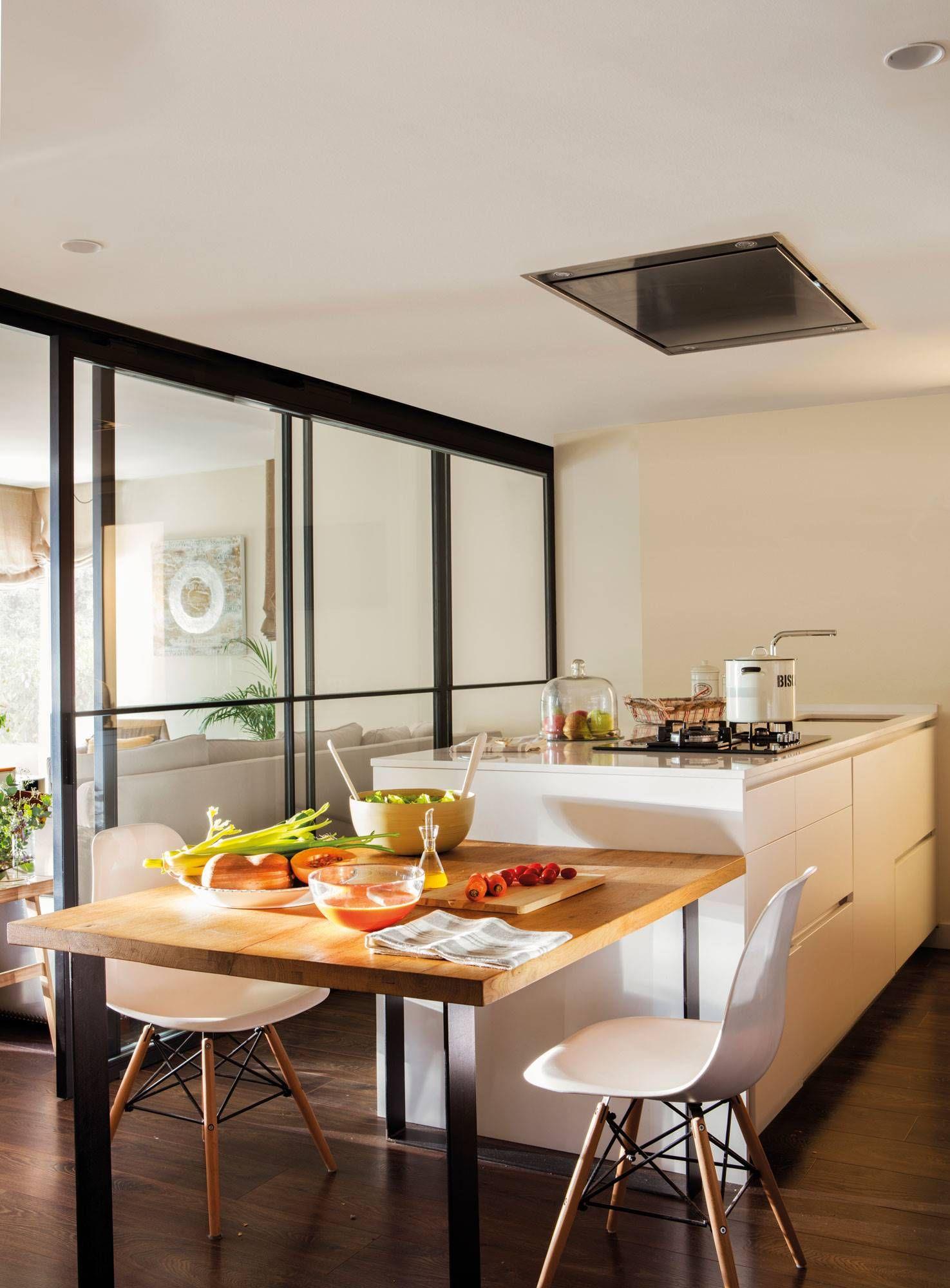 50 Cocinas Abiertas Al Comedor Y Al Salon Cocinas De Casa Islas De Cocina Decoracion De Cocina