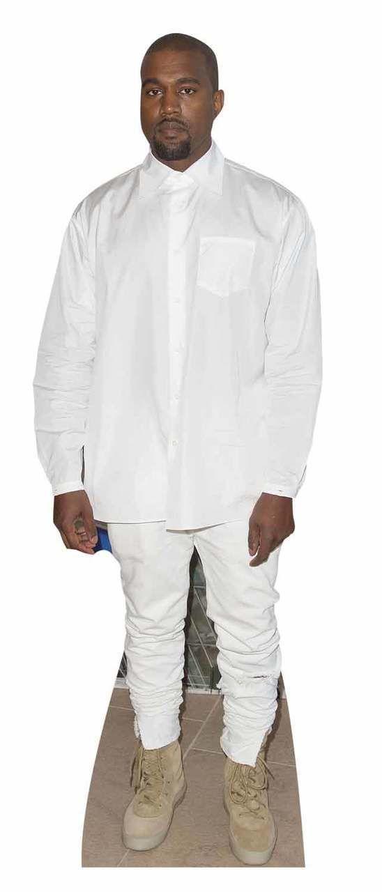 Kanye West White Shirt Style Lifesize Cardboard Cutout Standee Stand Up White Shirt Style Shirt Style Kanye West