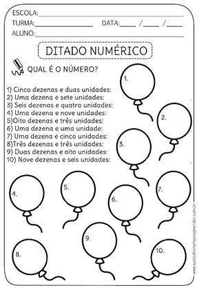 Atividade Pronta Ditado Numerico Atividades De Matematica