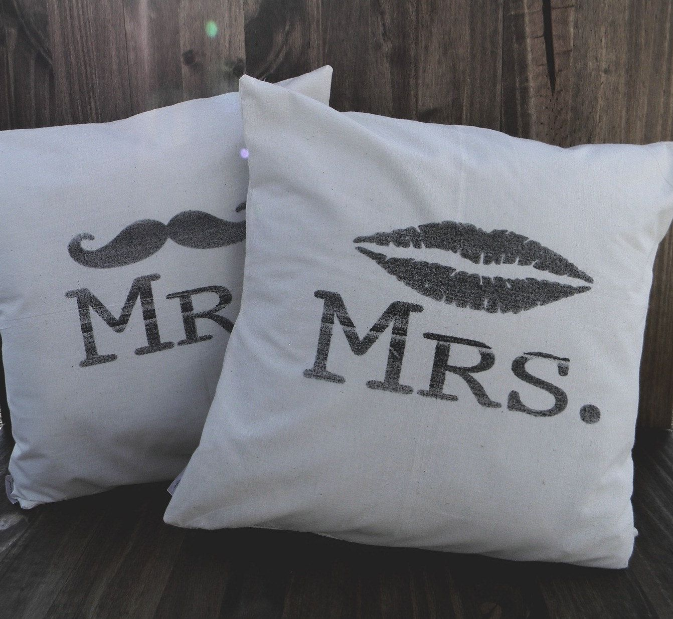 couples bridal shower gift ideas%0A Mr   u     Mrs  Set of Two    x    Pillow Covers  house warming  Newlywed GiftsHouse
