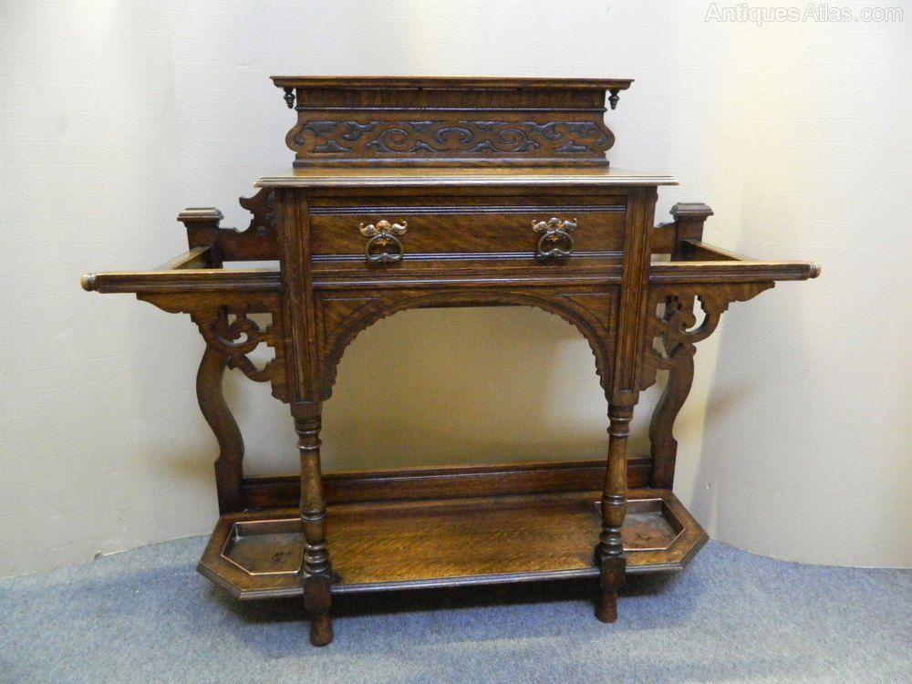 arts crafts oak hall stand antiques atlas antique hall stands rh pinterest com