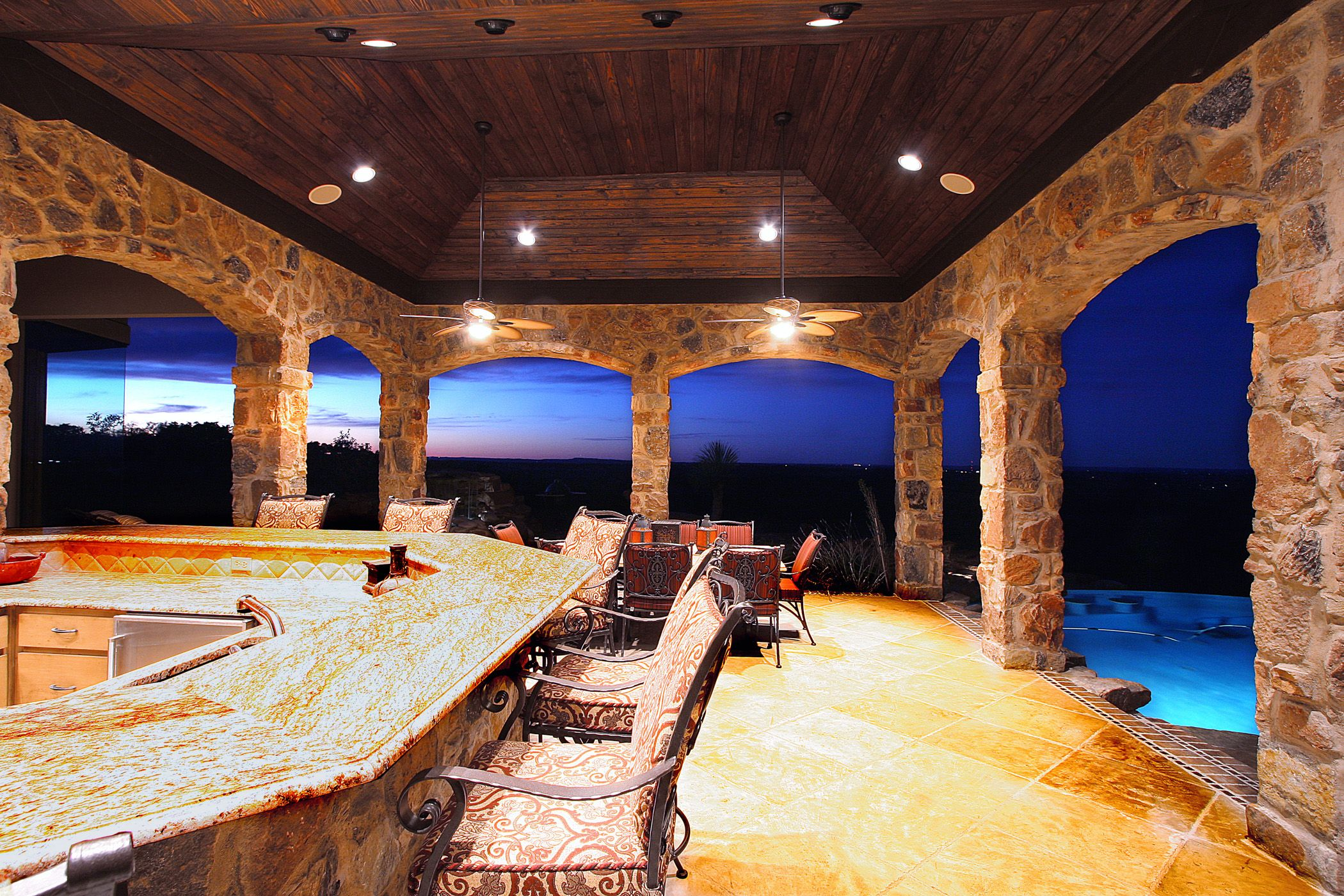 Belvedere In Lake Travis Outdoor Kitchen Bar Area By Zbranek .