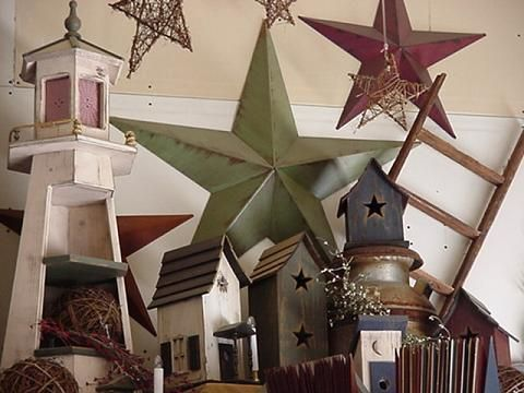 amish country primitive tin barn stars amish built lighthouse rustic rh pinterest com