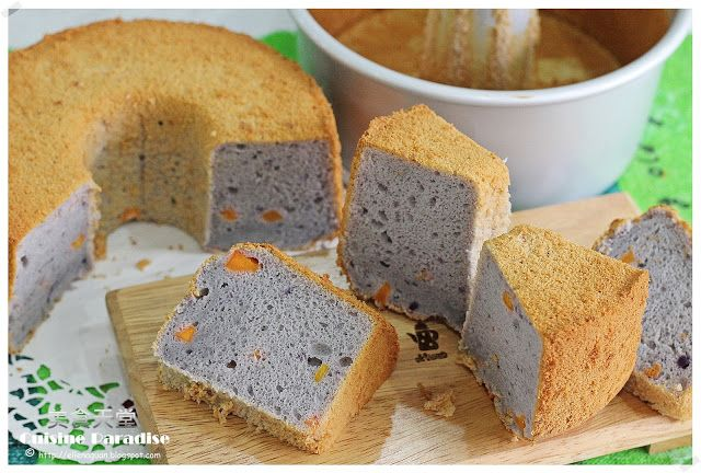 Cuisine Paradise | Singapore Food Blog | Recipes, Reviews And Travel: Purple Sweet Potato Chiffon Cake