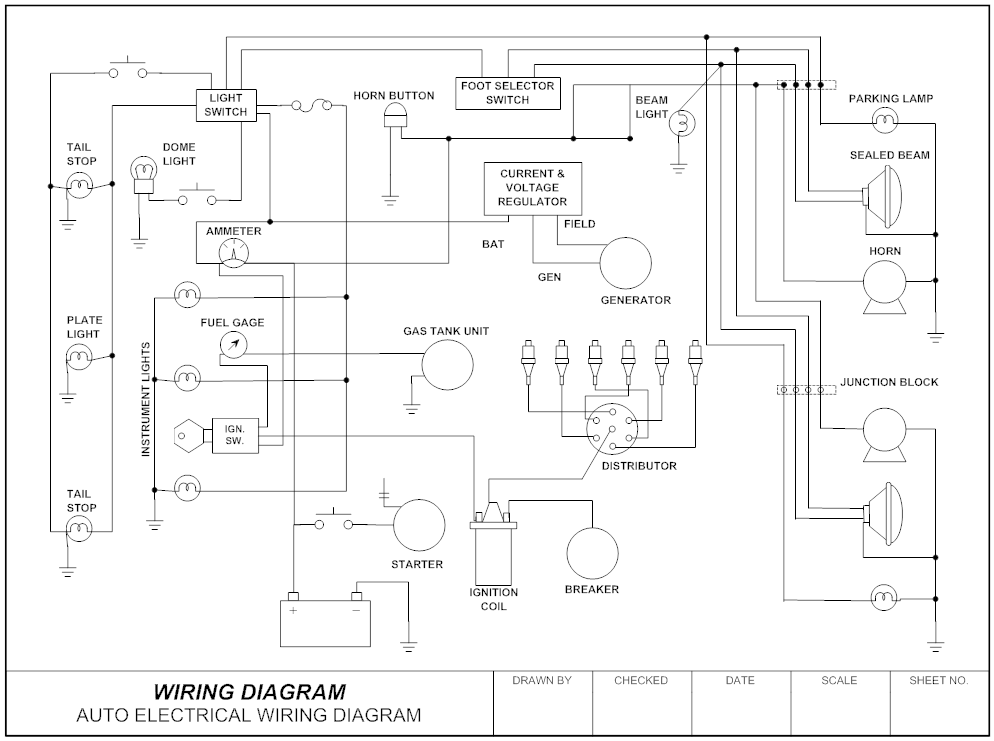 Example Image Wiring Diagram Auto Circuit Diagram Electrical Wiring Diagram Electrical Circuit Diagram