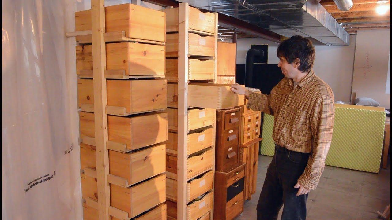 storage box rack uses lots of cool jigs build it pinterest rh pinterest com