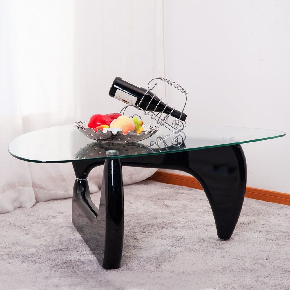 Inspired Isamu Noguchi Black Coffee Table Side End Table Living
