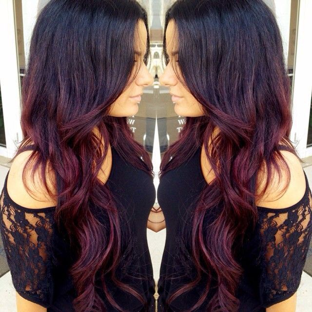 Burgundy ombre hair google search future hair pinterest ombre hair ombre and hair coloring - Ombre hair marron ...