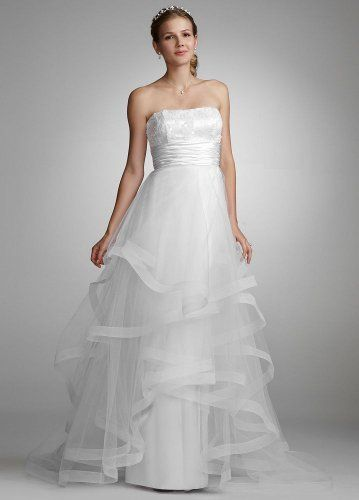 David's Bridal Wedding Dress: Sequin Encrusted Gown with Layered Tulle Skirt Style 231M17720: http://www.amazon.com/Davids-Bridal-Wedding-Dress-Encrusted/dp/B005OPRQTE/?tag=greavidesto05-20
