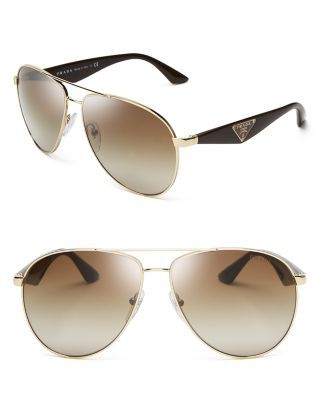 c5033c88f Prada Double Bar Aviator Sunglasses | Bloomingdale's | sunglasses ...
