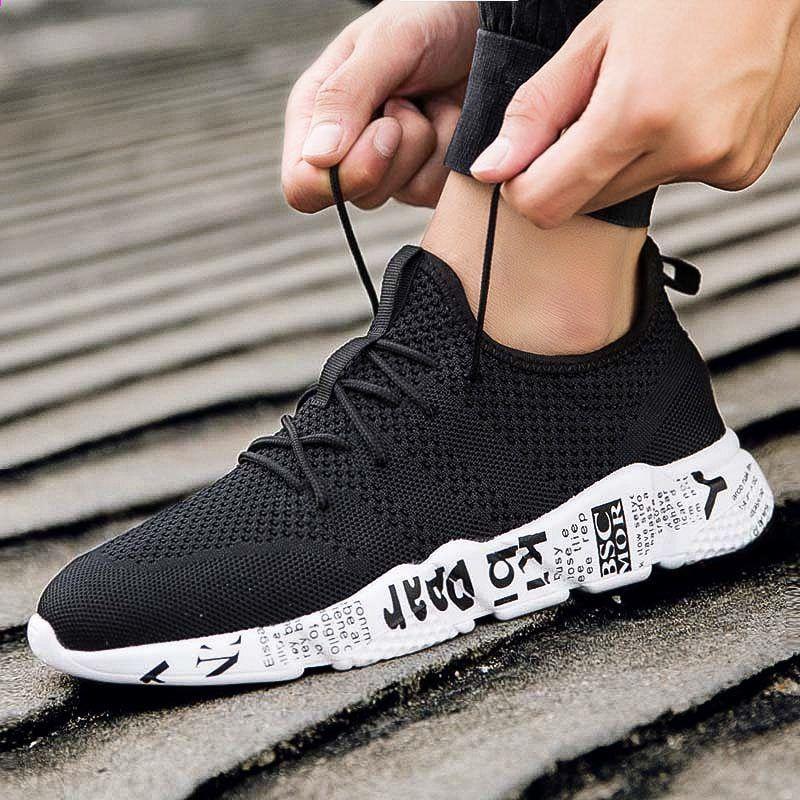 c3eb29f2ad03 2018 Hot Billige Herre Sko Unge Boys Stof Åndbar Sport Walking Sko Mand  Sneakers Stor Størrelse Enkel Stilfuld Zapatillas Mand