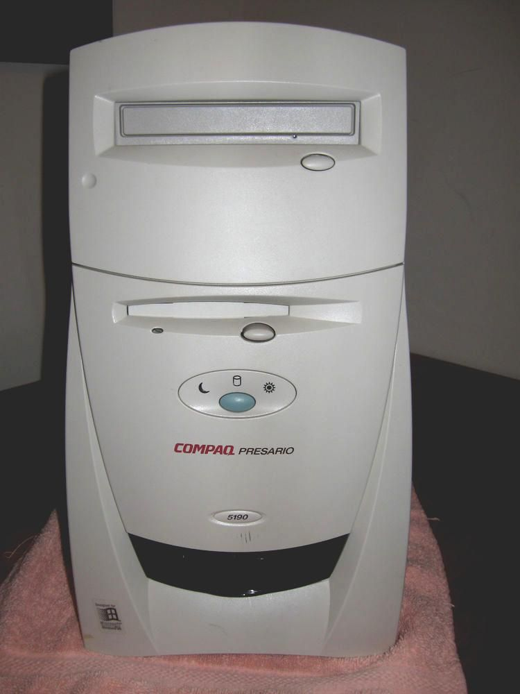 compaq presario 5190 computer with voodoo 2 video card from