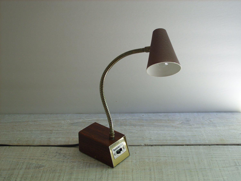 vintage small metal tensor desk lamp brown gooseneck task light rh pinterest ch