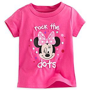 Disney Minnie Mouse Tee for Baby | Disney StoreMinnie Mouse Tee for Baby - Friends and family will go dotty when they see baby in this adorable all-cotton Minnie Mouse tee with puffy ink accents.