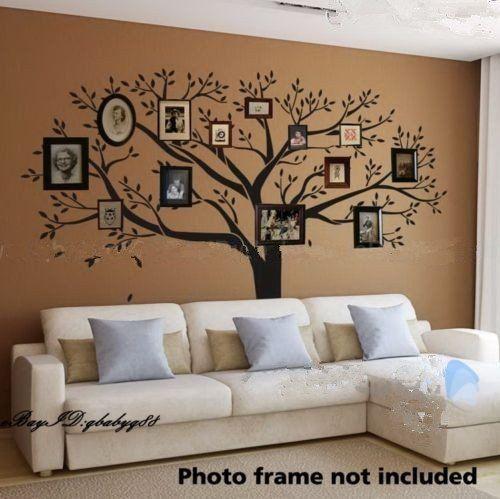 amazon com giant family photo tree wall decor wall sticker vinyl rh pinterest com au