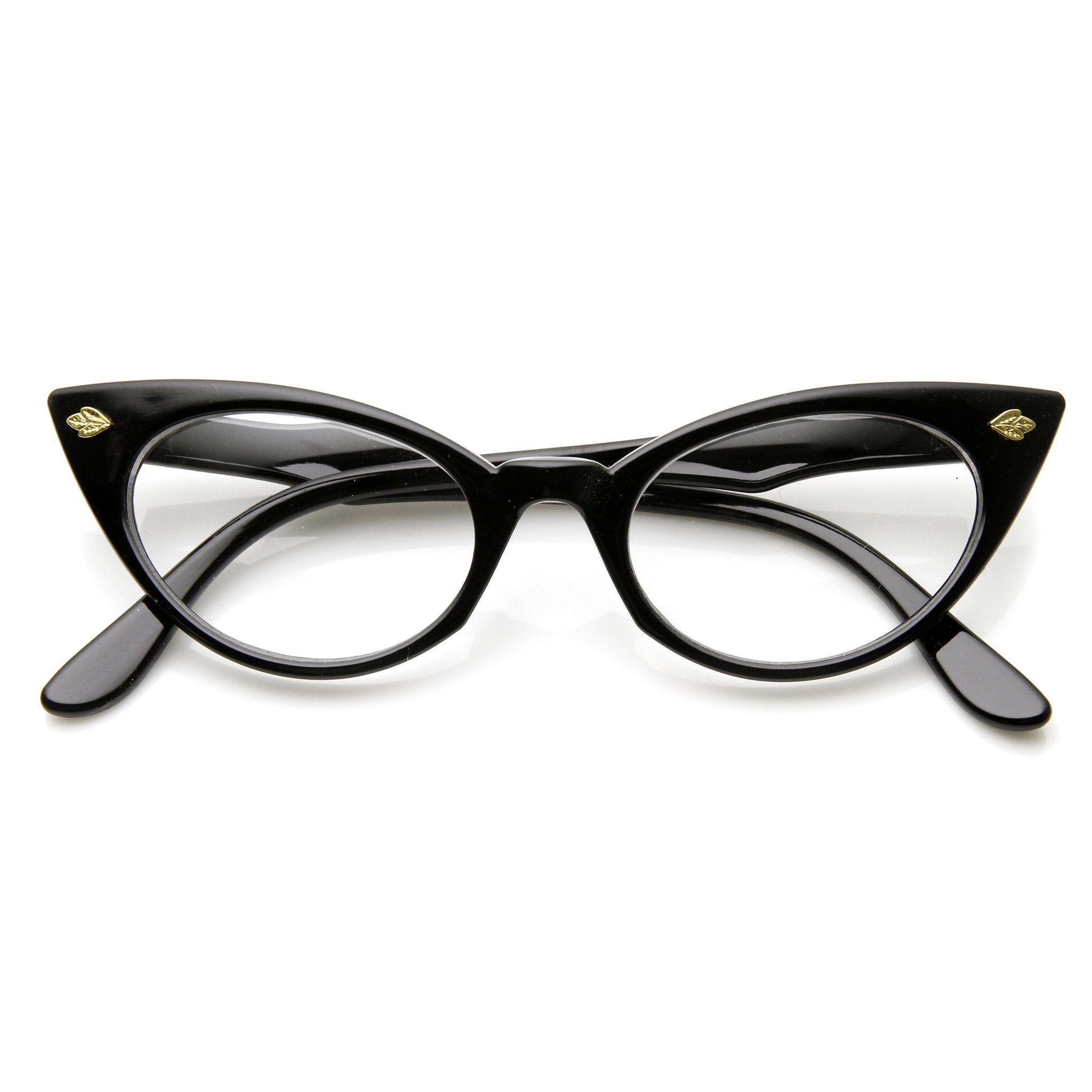 Kinglly Retro Vintage Cateye Sunglasses for Women Plastic Mirrored Frame Lens