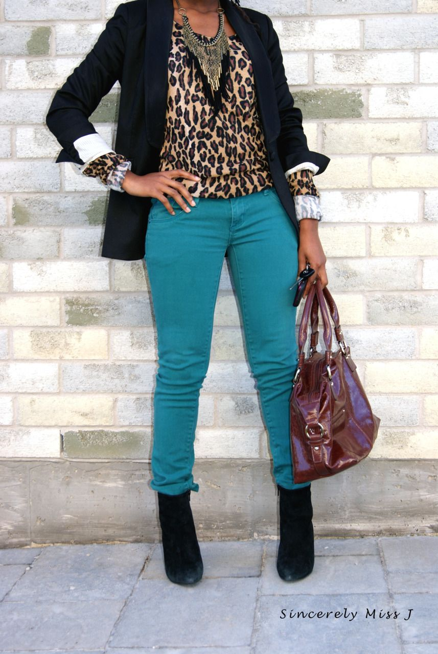 BLACK FASHION — coloured Jeans part one    Teal jeans
