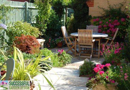 small flower garden design for small backyard with outdoor furniture rh pinterest com