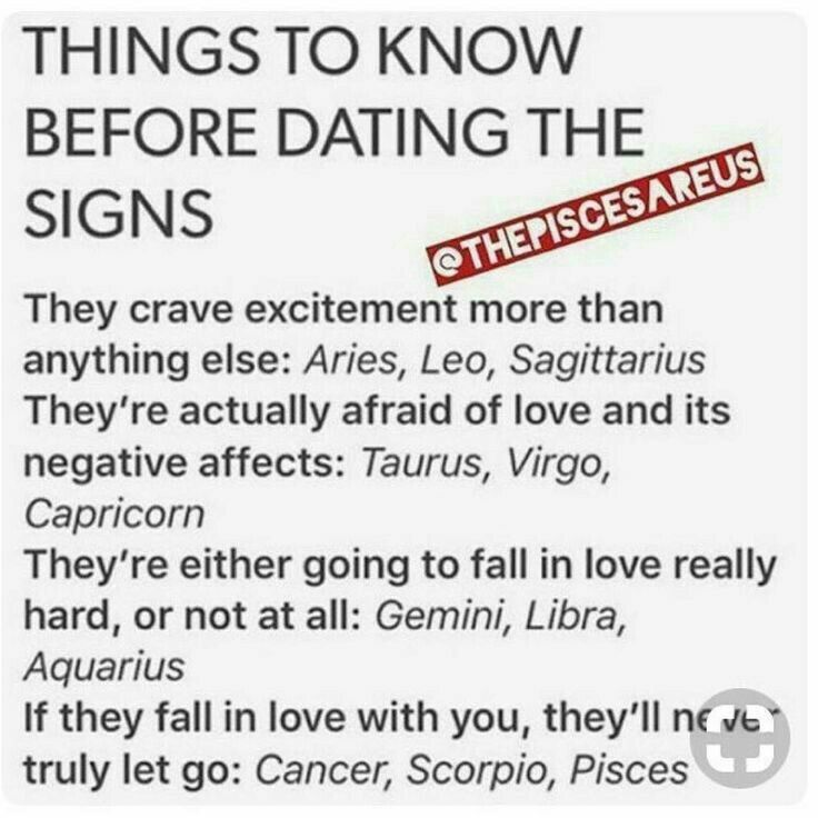 Zodiac signs dating tips