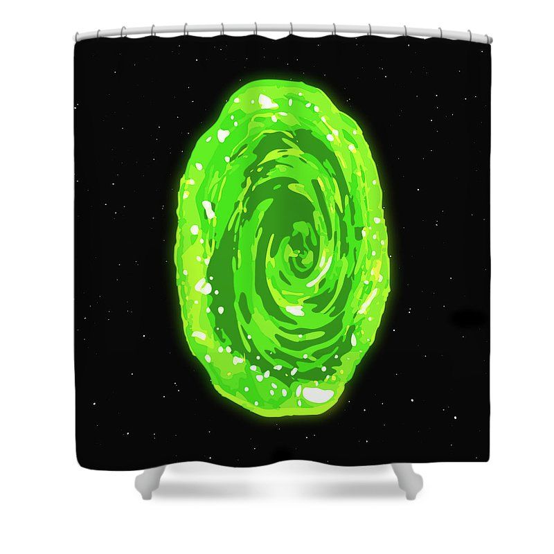 Rick And Morty Shower Curtain Featuring The Digital Art Wall