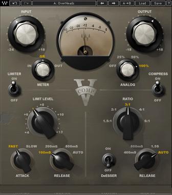 V Comp Vintage Compressor Plugin Waves Waves Audio Music Software Plugins