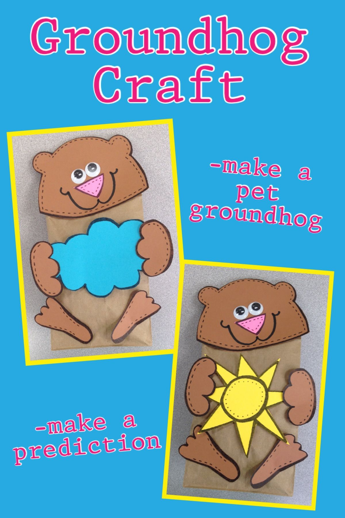 Groundhog Day Craft Available On Tpt