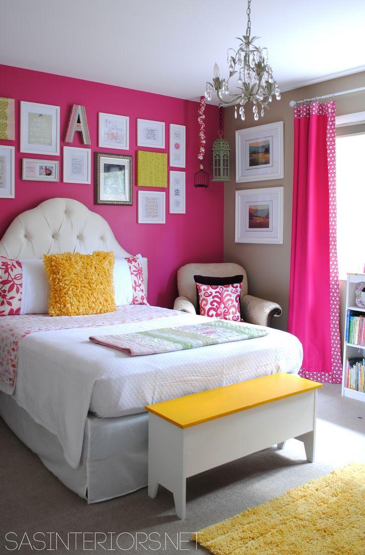 Girls room benjamin moore royal fuchsia and lenox tan home girls