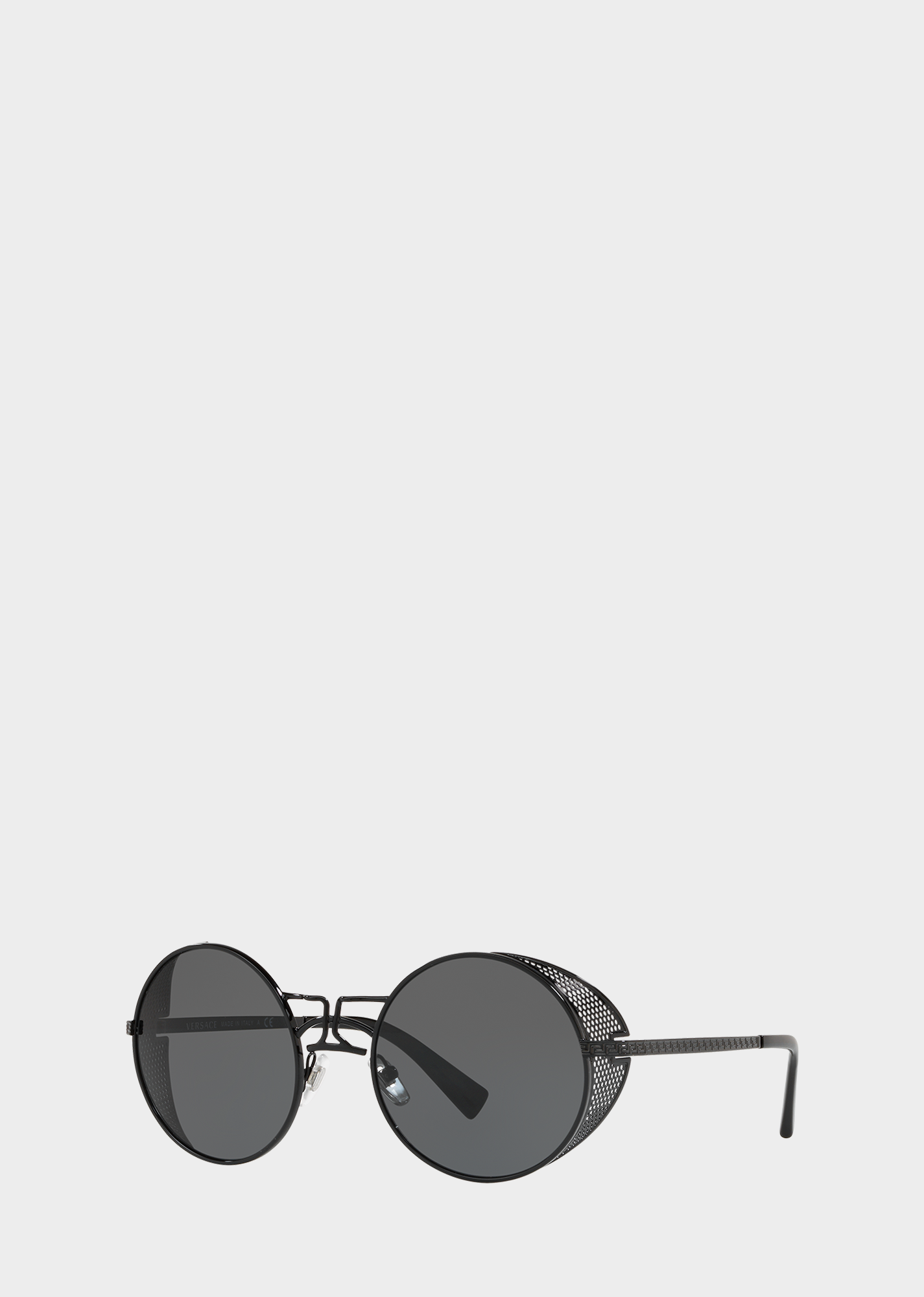 Versace Black Round Tribe Sunglasses For Men Us Online Store Sunglasses Rimless Sunglasses Versace Men