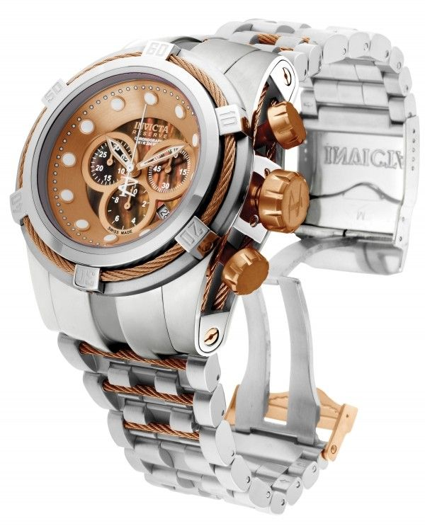 3f41d5d34de Invicta 0823 Bolt Zeus Reserve Chronograph Two Tone (stainless and rose)