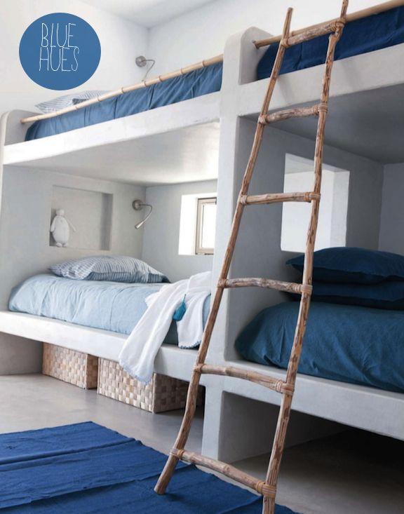 Blauw wit slaapkamer - Slaapkamer | Pinterest - Kinderkamer, Blauw ...