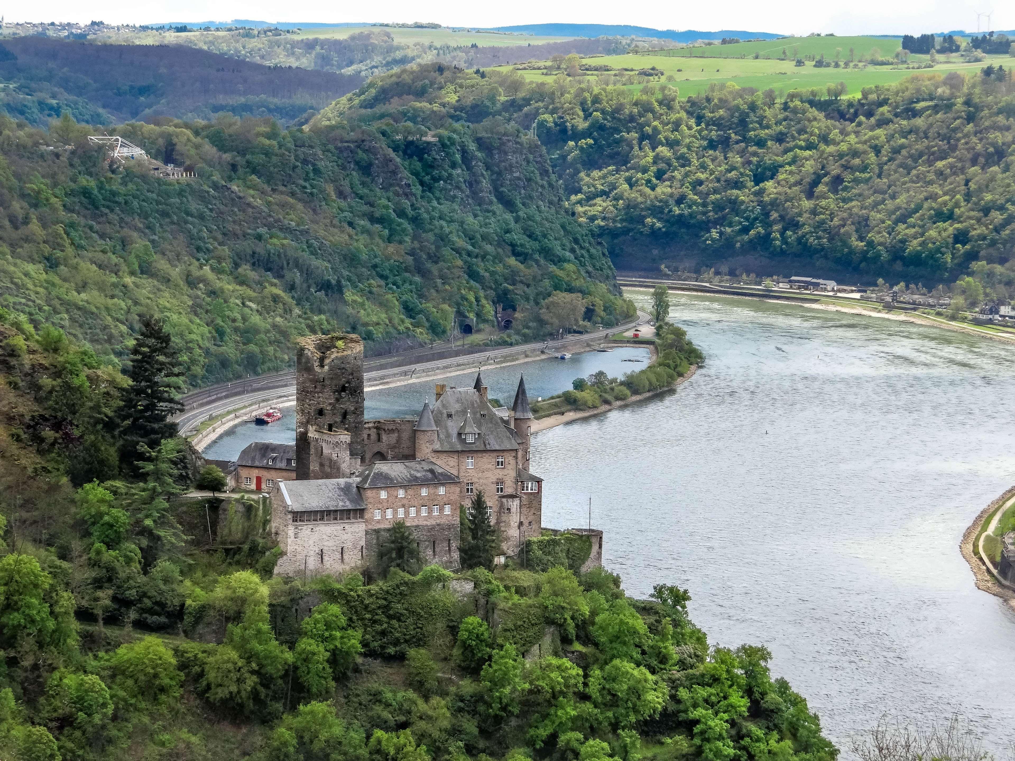 #burg katz #castle #current #germany #loreley #medium rheinthal #middle ages #middle rhine #outlook #rhine #sachsen #st goar