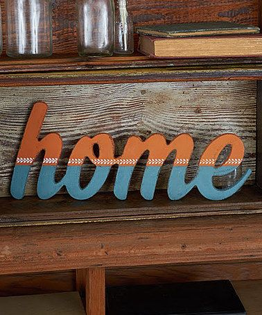 Love this Unfinished 'Home' Wall Art on #zulily! #zulilyfinds