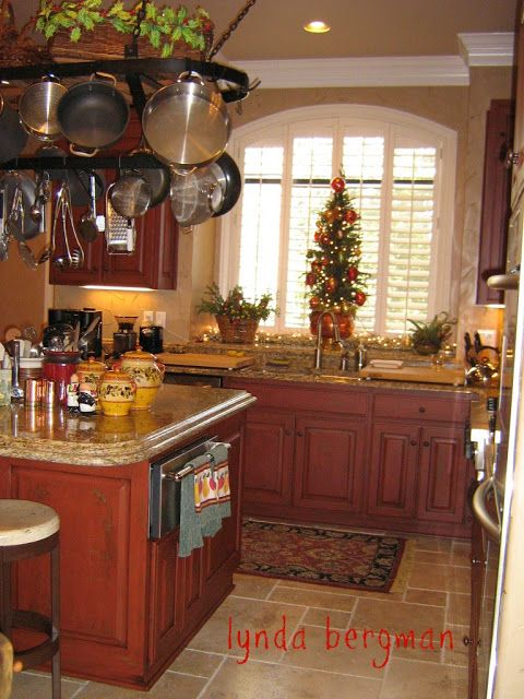 kitchen cabinets painted red distressed and aged idea in 2019 rh pinterest ca