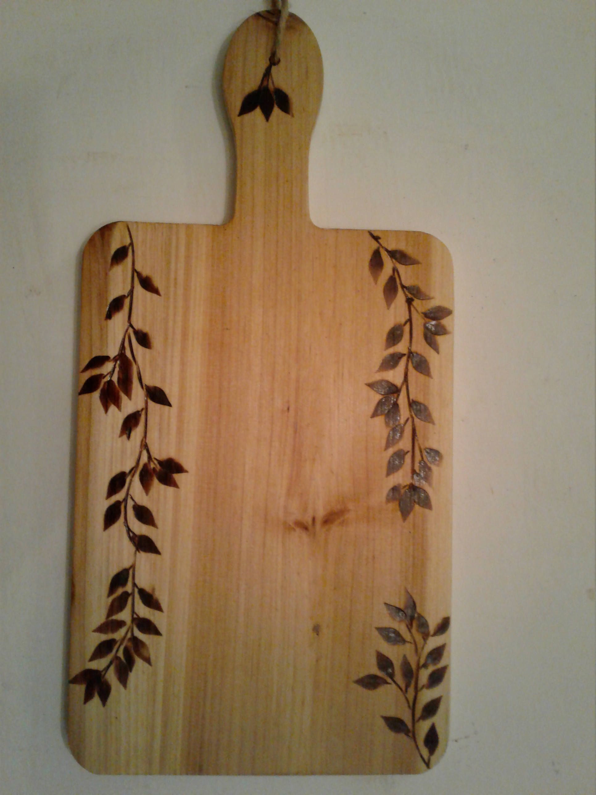 Wood burned cutting board by Reclaimed1026 on Etsy