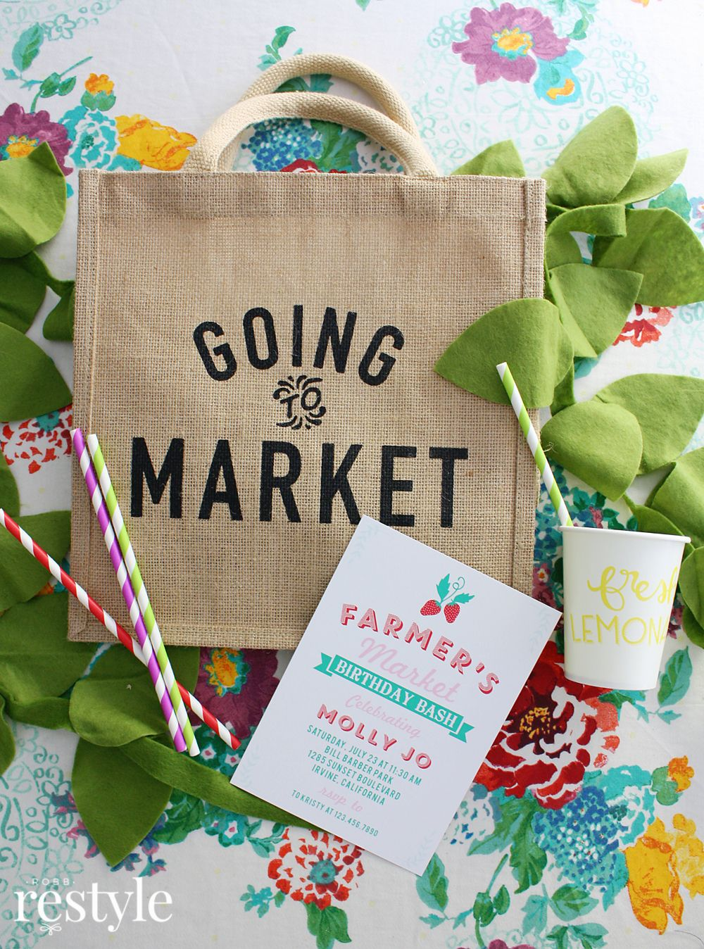 The Best Place To Get Kid Birthday Invitations Farmers Market Party Idea