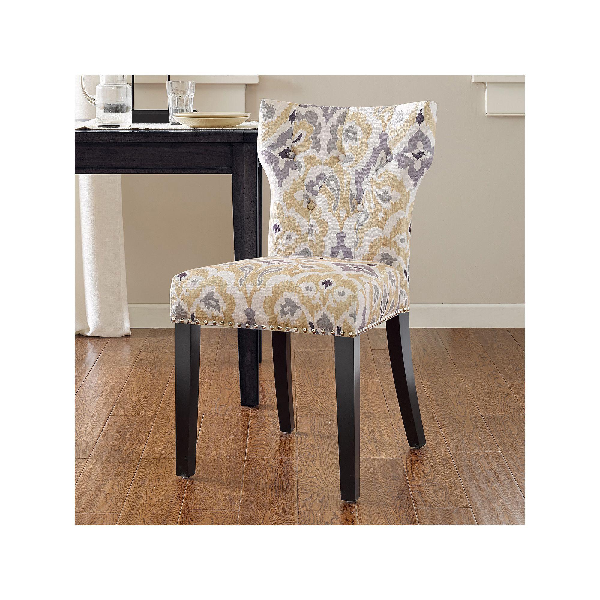 Madison Park Emilia Tufted Back Dining Chair Grey