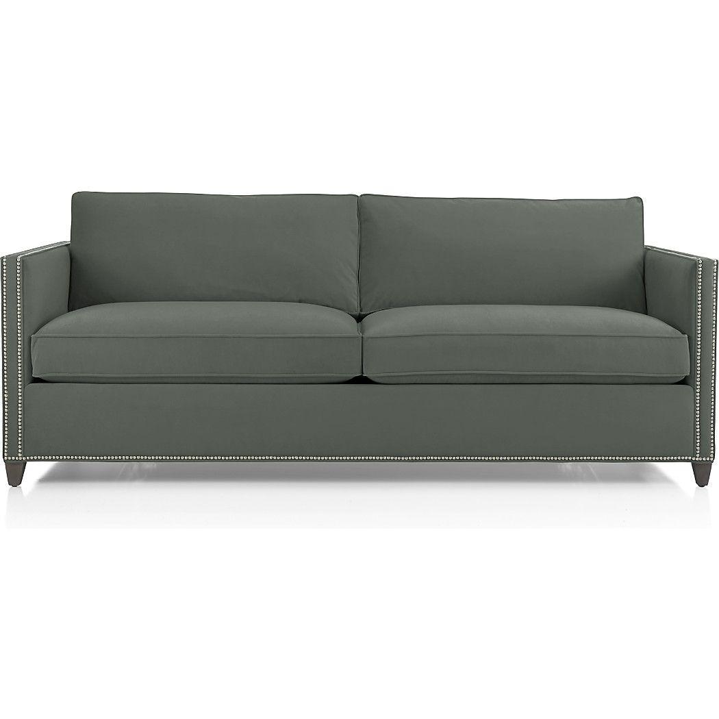 dryden sofa with nailheads bell reno sofa sleeper sofa velvet sofa rh in pinterest com