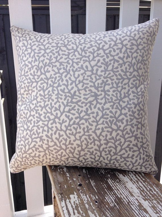 this grey and cream barrier reef design outdoor cushion cover is rh pinterest co uk