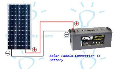 learn how wire instill or connect a solar panel to a battery with rh pinterest com