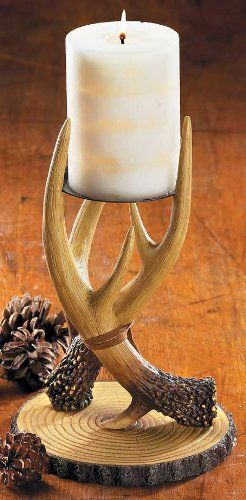 Vertical Antler Candle Holder Want To Know More Click On The Image Candleholders Antlers Decor Antler Candle Holder Antler Candle