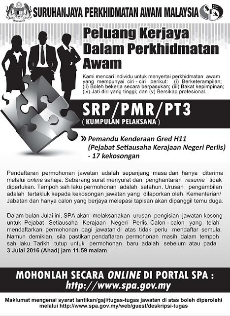 Jawatan Kosong Pemandu Kenderaan Gred H11 Apply Job Here Job Apply Job Spa