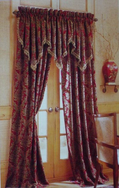 curtains and valances | ... Chenille Curtains & Drapery Panels & Valances - China Curtain,Drape