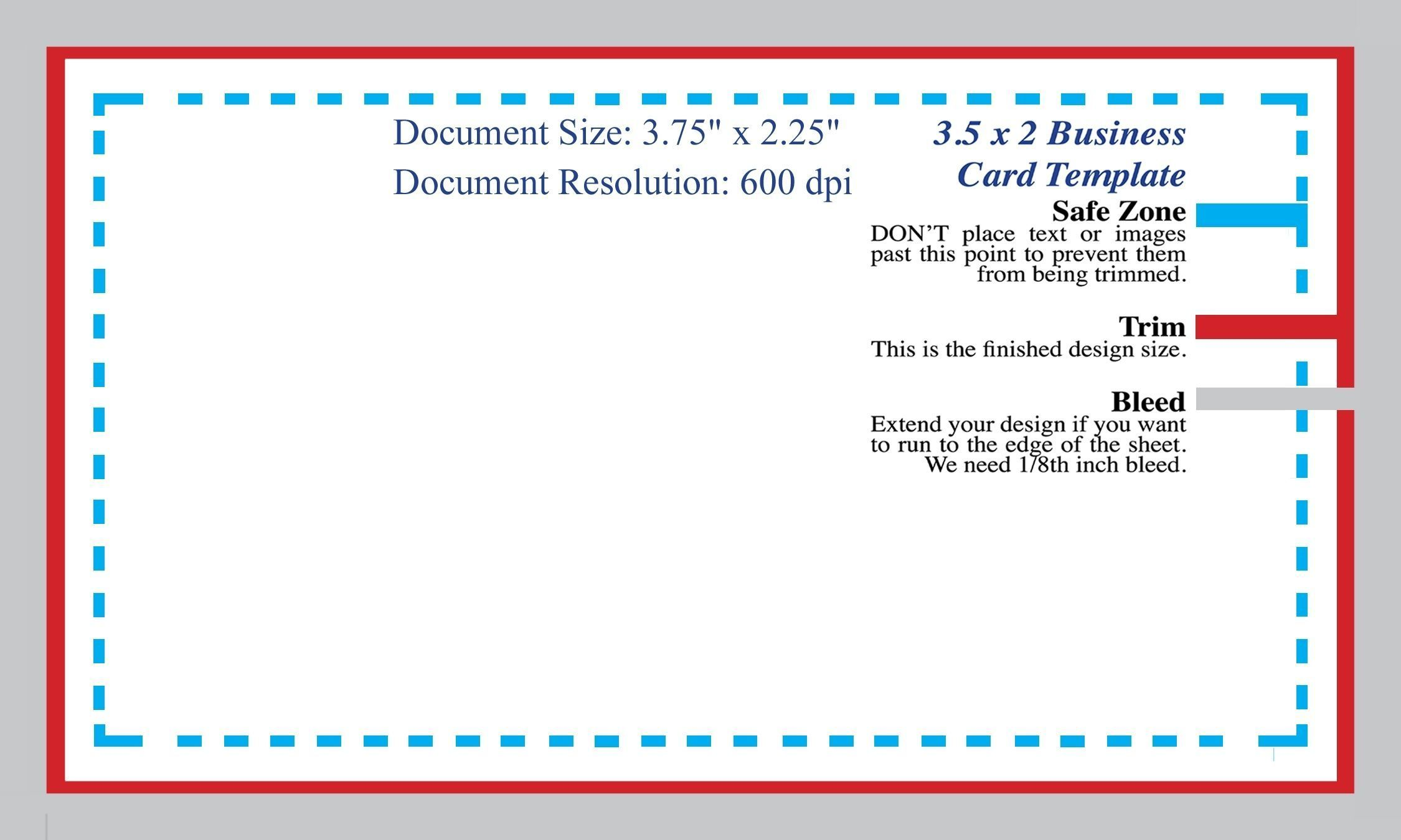 Standard Business Card Blank Template Photoshop Template Intended