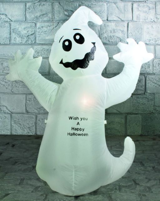 Large happy halloween inflatable light up ghost party decoration - halloween ghost decor